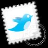 Twitter postzegel
