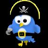Twitter vogel piraat