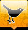 twitter vogel geel/oranje