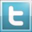 Twitter icon lichtblauw groot