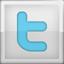 Twitter icon grijs groot