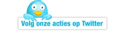 Volg onze acties op Twitter